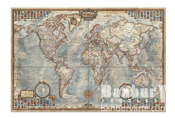 14827 El Mundo, Mapa Político Rompecabezas 4000 Piezas Educa