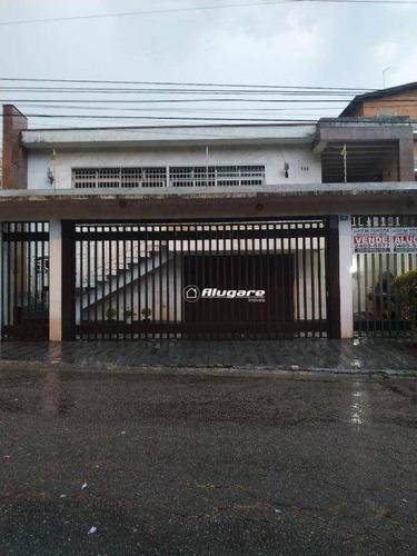 Sobrado Com 5 Dormitórios, 300 M² - Venda Por R$ 1.200.000,00 Ou Aluguel Por R$ 5.300,00/mês - Jardim Maia - Guarulhos/sp - So0552