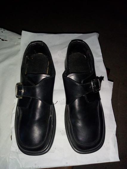 Zapatos Hombre Escuela/fiesta Mocasines Talle 38 Cuero
