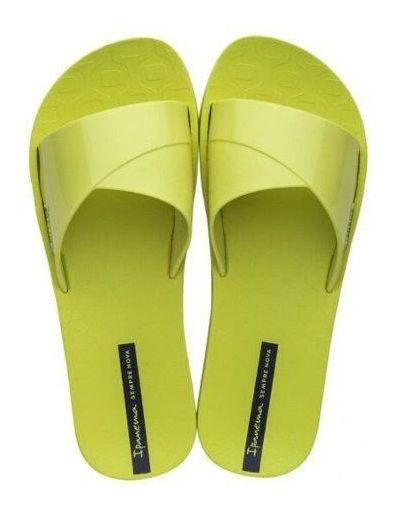 Chinelo Slide Feminino Ipanema Fresh Amarelo