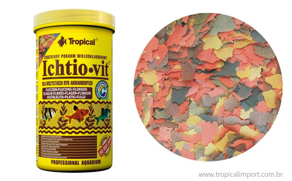 Racao P/ Peixes Ornamentais Ichtio Vit 20g Flakes Tropical