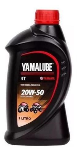 Imagem 1 de 3 de Óleo Moto Yamalube 4t 1 Lt 20w50 Mineral - Yamaha