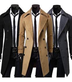 Sacos Abrigos Premium Winter Coat Slim Fit Moda Oriental