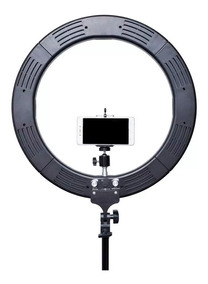 Ring Light Iluminador Led Bicolor 18´ + Tripé 2m