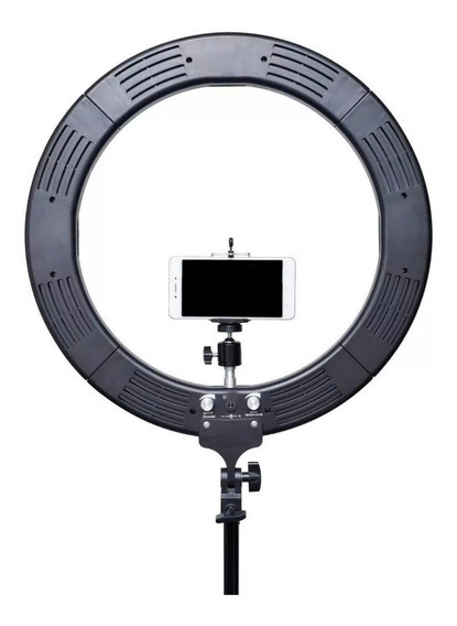 Ring Light 46cms Iluminador Led Bicolor 18´ + Tripé 2 Metros