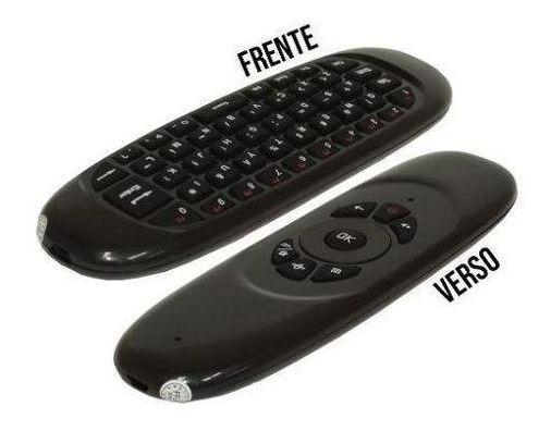 Mini Teclado Controle Air Mouse Sem Fio Recarregável / C-120-2