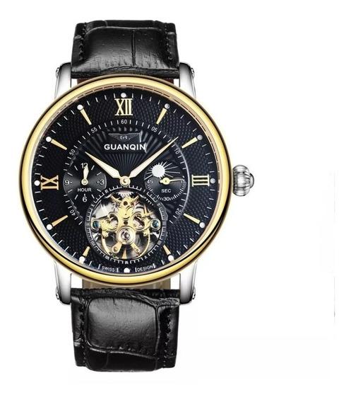 Relógios Masculino Automático Guanqin Marca De Luxo Top