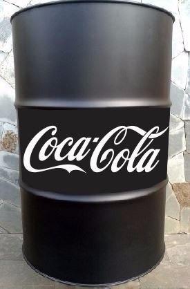 Adesivo Coca-cola Para Tonel Tambor Decorativo Plotado Vinil