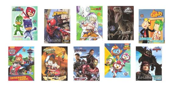 10 Libros Para Colorear Niños Surtido Iluminar Fiestas Niño