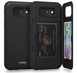 Funda Galaxy A7 2017 Funda Toru Slim Hard Wallet Case Black