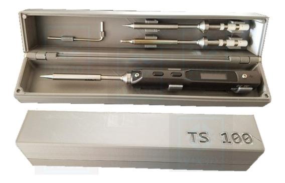 Caixa Estojo Box Para Ferro De Solda Inteligente Ts100 Prote