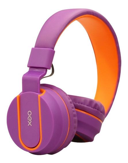 Fone De Ouvido Headset C/microfone Hs107 Fluor Oex Teen Roxo