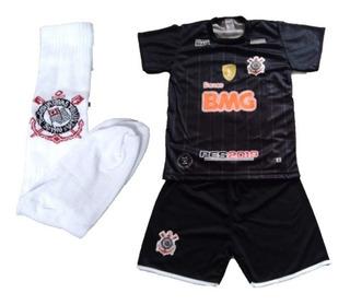 Conjunto Infantil Corinthians Timão Novo 2019 Uniforme