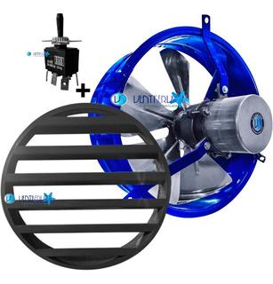 Extractor Industrial 30 Cm Reversible + Persiana + Llave Inv