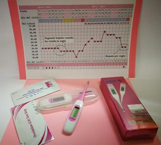 Termómetro 2 Decimales Temperatura Basal Ovulación + Test