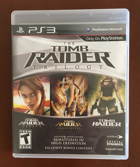 Jogo Físico Para Ps3 The Tomb Raider Trilogy - Lara Croft