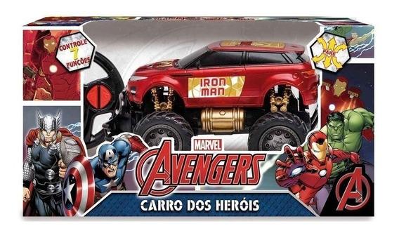 Brinquedo Carrinho Pick-up Road 4x4 Controle Homem De Ferro