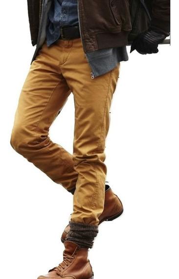 Jeans Hombre Chupin Elastizado Colores Be Your Self Tiendas