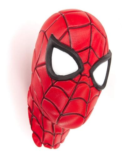 Cabeça 3d Homem-aranha Spiderman 20cm Para Colar Na Parede