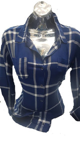 Importada De Dama Con Vestir Cuadros Camisa Para n0wO8Pk