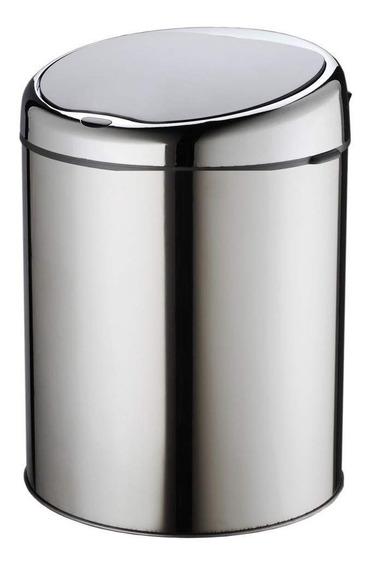 Lixeira Automática 3 Litros Aço Inox Com Sensor De Abertura