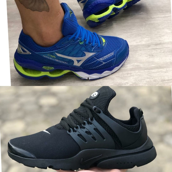 Kit 2 Pares Tenis Air Presto + Mizuno Creation 20 Masculino