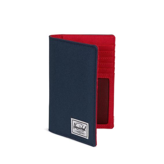 Billetera Pasaporte Herschel Search Rfid Azul/rojo