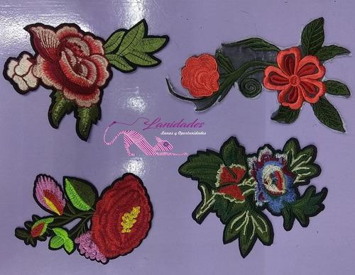 Parches De Flores Grandes X5