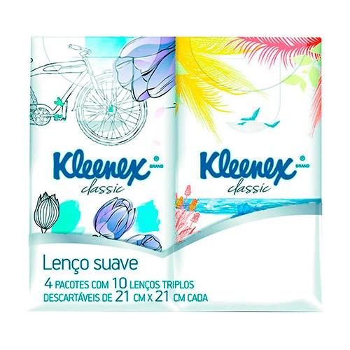 Lenços De Papel De Bolso Kleenex Original 4 Unidades