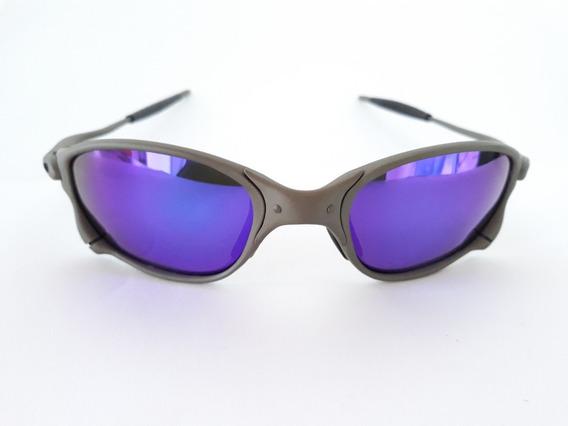 Óculos De Sol Juliet Double Xx Metal Lentes Roxo Polarizada