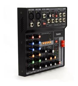 Mesa De Som Bluetooth Usb Mixer Mp3 Player Digital 7 Canais
