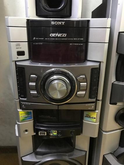 Som Sony Mod Hcd-gtx88 Com Todas As Caixas + Garantia!