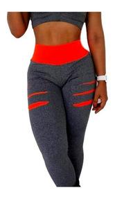 Calça Leg Roupa Academia Fitness Suplex + Top De Brinde!!