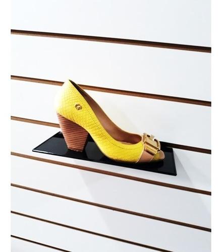 Expositor De Calçado Para Painel Caixa Com 40 Unidades Preto