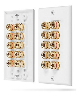 Fosmon Five Speaker Home Theater Placa De Pared Premium Qual