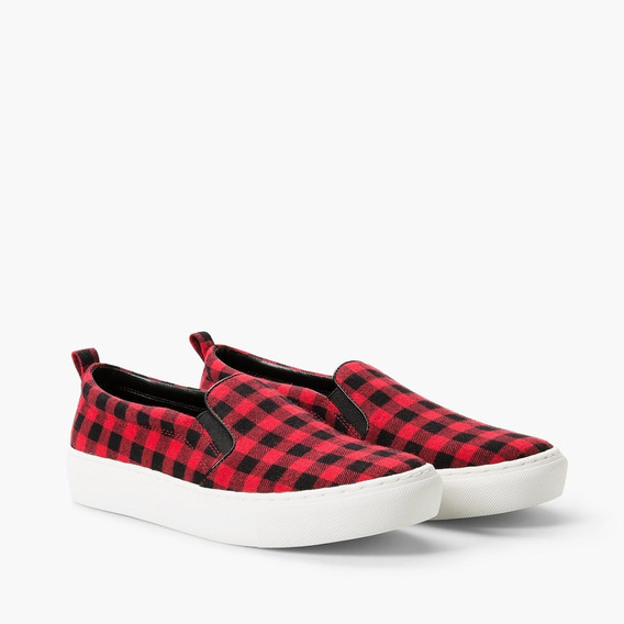 Zapatillas Mango Slip-on Check Pattern