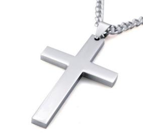 Colar/corrente Crucifixo Prata E Dourado