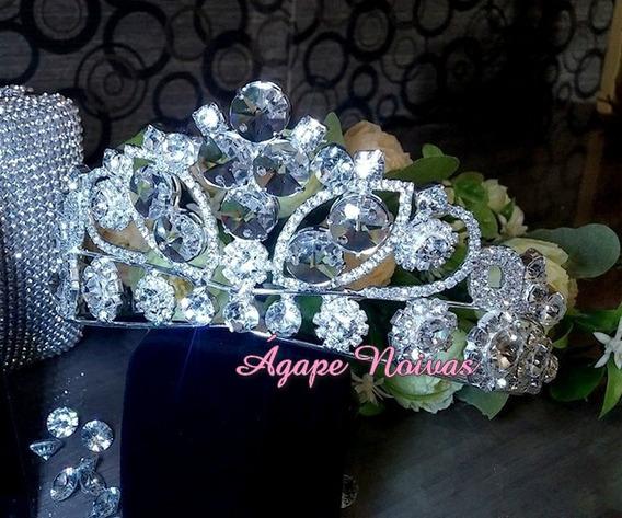 Coroa De Strass E Cristais Para Noiva E Festa Cr23ra-a