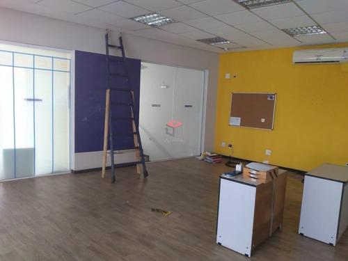 Imagem 1 de 11 de Sala Comercial Para Locação, 110 M² - Vila Valparaíso - Santo André / Sp  - 97004