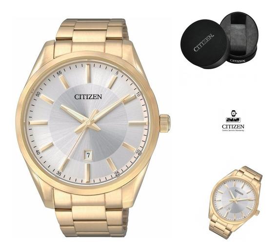 Reloj Citizen 60497 Bi1032-58a Hombre Ext Dorado Fechador