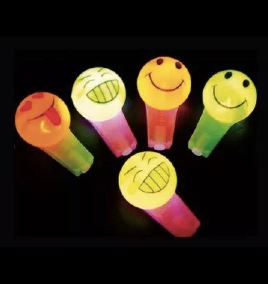 Silbato Led Emoji X 10 Emoticon Caritas Pito Led Luminoso