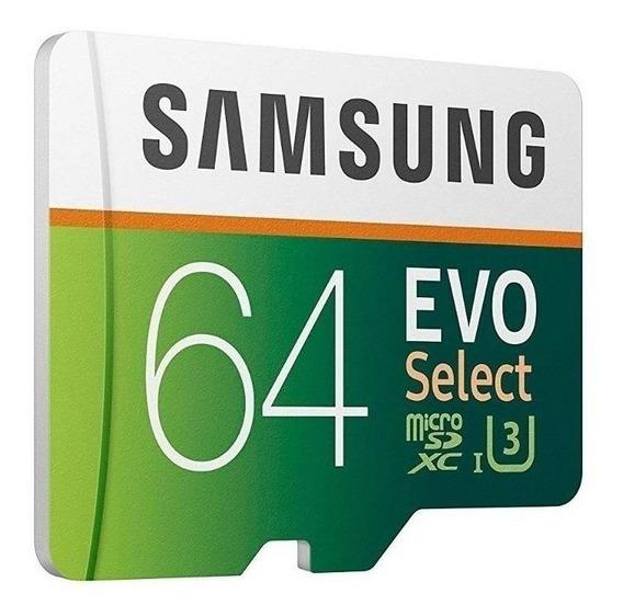 Cartão de memória Samsung MB-ME64GA/AM Evo Select com adaptador SD 64GB