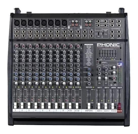 Mesa De Som Fhonic Amplificada Efeito De Voz Pronta Entrega