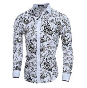 Camisas Social Estampadas Floral Slim: Pronta Entrega
