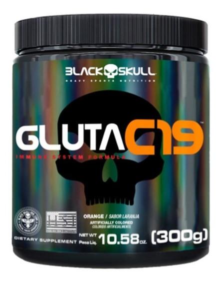 Gluta C19 300 - Black Skull - Melhora Do Sistema Imunológico
