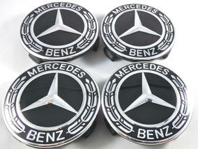 Mercedes Benz Calota Preta Full Black Amg 75mm 4 Peças