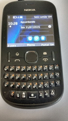 Celular Asha 201 Nokia Preto Desbloqueado+ Carregador Usado