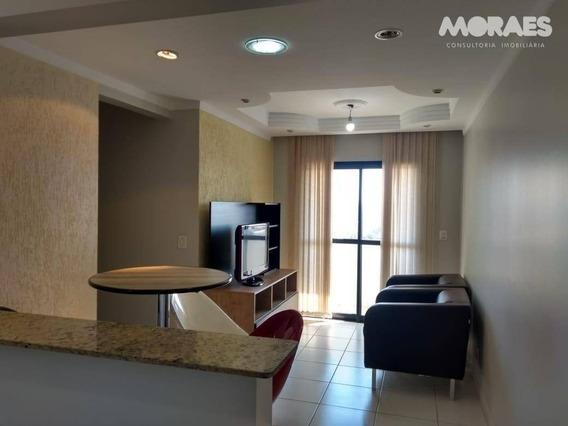 Apartamento Com 2 Dormitórios Para Alugar, 50 M² Por R$ 1.100/mês - Vila Cardia - Bauru/sp - Ap1066