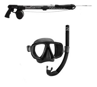 Kit Pesca Sub Arbalet Arpao E Mascara Snorkel - Frete Grátis