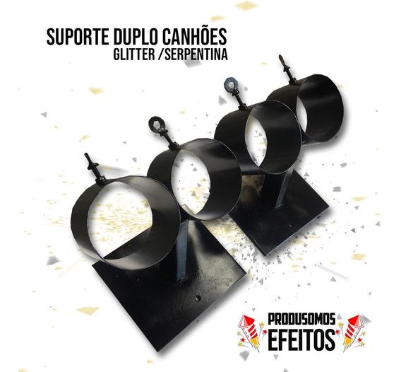 Suporte Duplo De Ferro Para Canhão Serpentina / Glitter